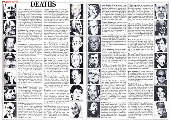 Article Preview: DEATHS, December 1981 | Maclean's