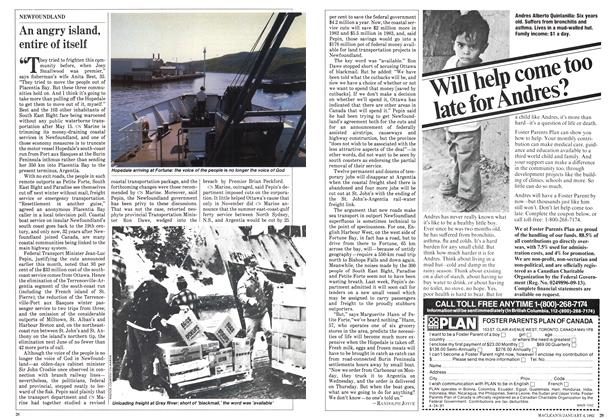 Article Preview: An angry island, entire of itself, January 1982 | Maclean's