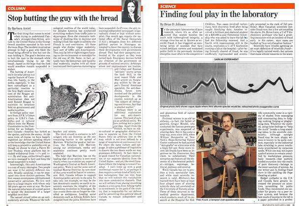 Article Preview: Finding foul play in the laboratory, January 1982 | Maclean's