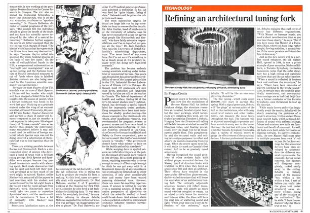 Article Preview: Refining an architectural tuning fork, January 1982 | Maclean's