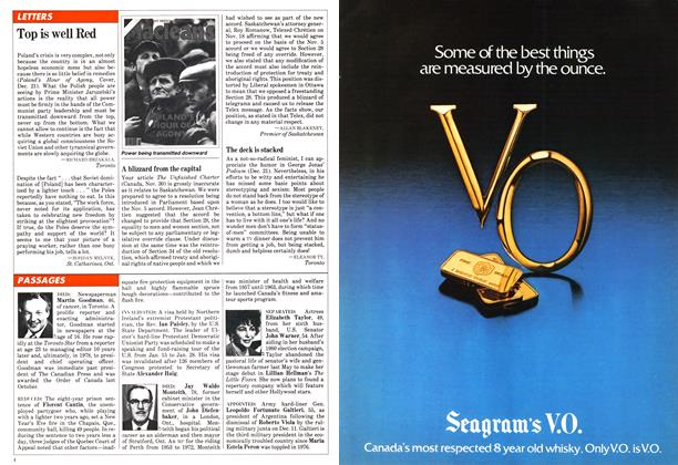 Article Preview: PASSAGES, January 1982 | Maclean's