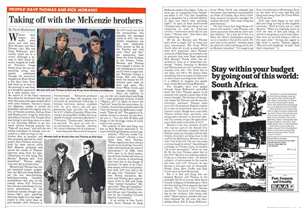 Article Preview: Taking off with the McKenzie brothers, January 1982 | Maclean's