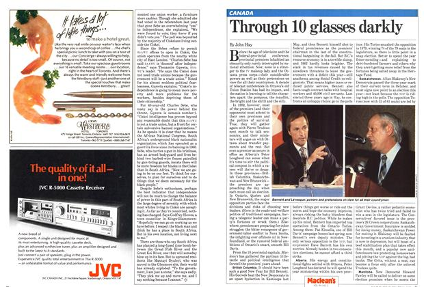 Article Preview: Through 10 glasses darkly, January 1982 | Maclean's
