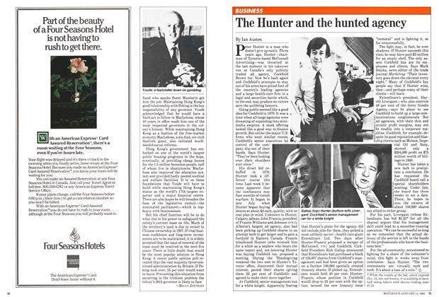 Article Preview: The Hunter and the hunted agency, January 1982 | Maclean's
