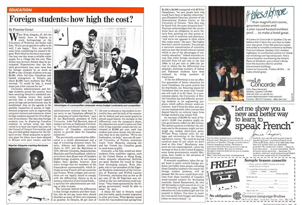 Article Preview: Foreign students: how high the cost?, January 1982 | Maclean's