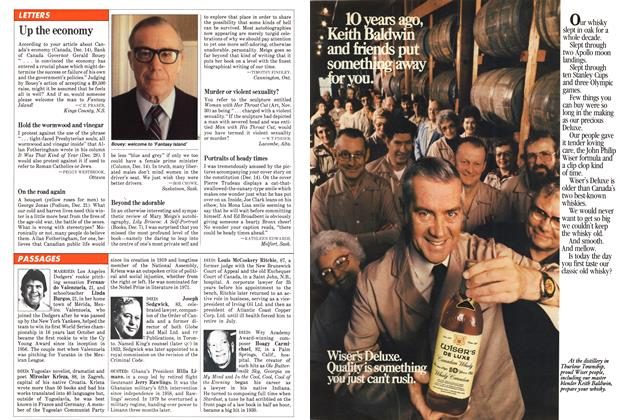 Article Preview: LETTERS, January 1982 | Maclean's