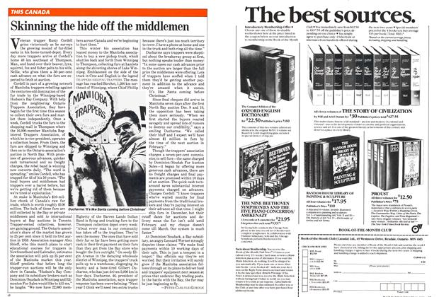 Article Preview: Skinning the hide off the middlemen, January 1982 | Maclean's