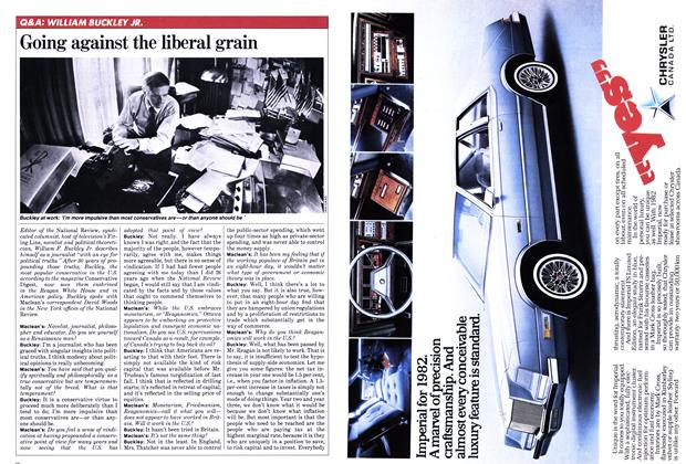 Article Preview: Going against the liberal grain, January 1982 | Maclean's