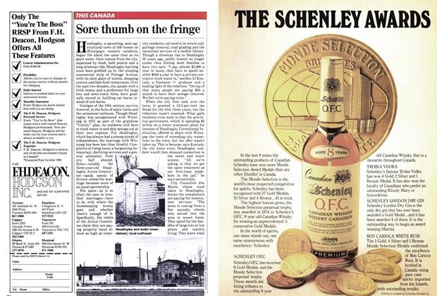 Article Preview: Sore thumb on the fringe, January 1982   Maclean's