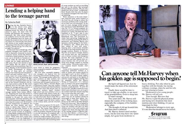 Article Preview: Lending a helping hand to the teenage parent, January 1982 | Maclean's