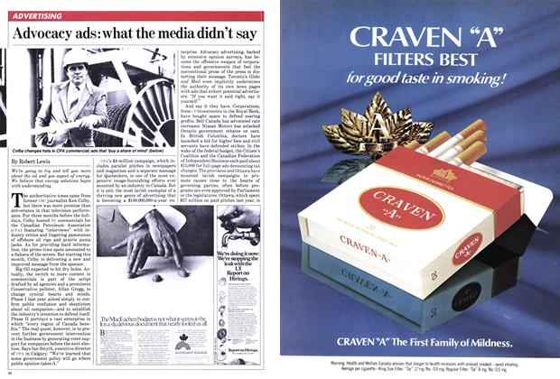 Article Preview: Advocacy ads: what the media didn't say, January 1982 | Maclean's