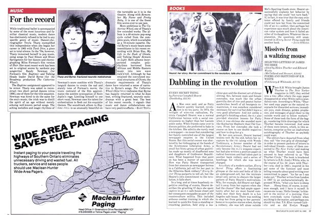 Article Preview: Dabbling in the revolution, January 1982 | Maclean's