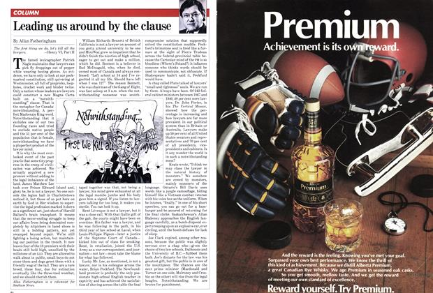 Article Preview: Leading us around by the clause, January 1982 | Maclean's