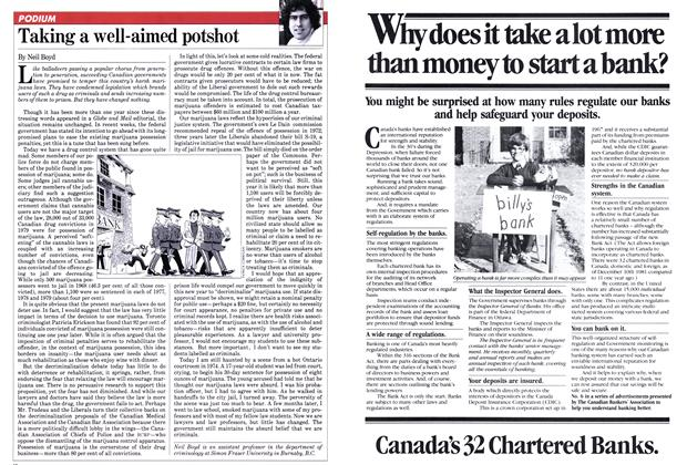Article Preview: Taking a well-aimed potshot, January 1982 | Maclean's