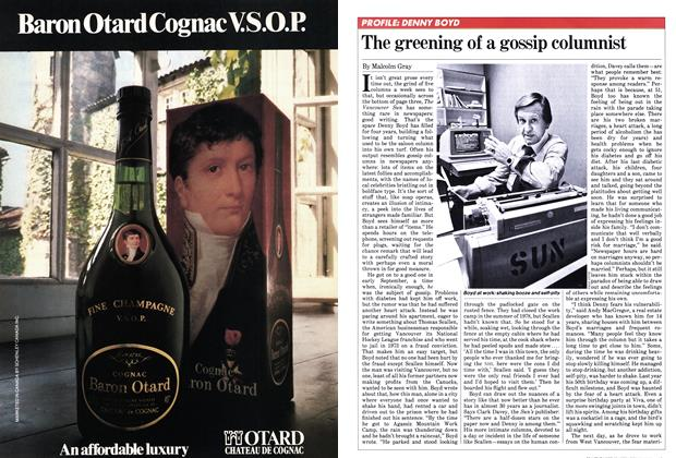 Article Preview: The greening of a gossip columnist, January 1982 | Maclean's