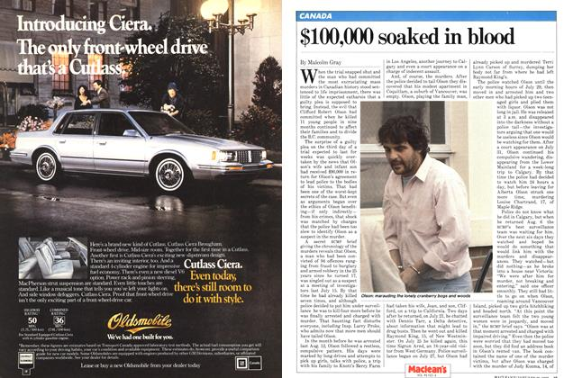Article Preview: $100,000 soaked in blood, January 1982 | Maclean's