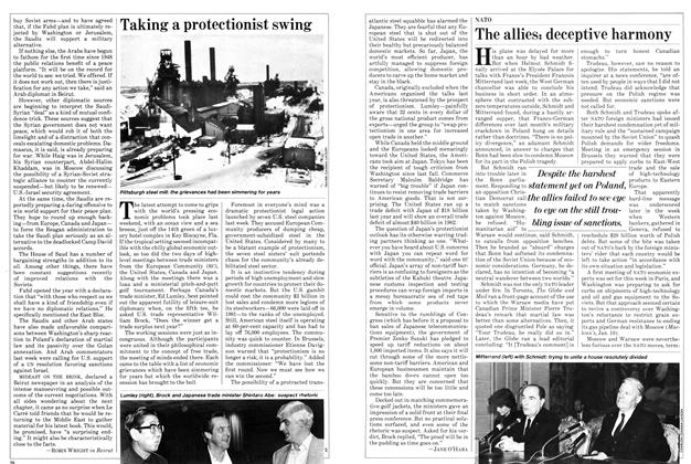 Article Preview: Taking a protectionist swing, January 1982 | Maclean's