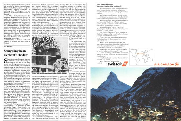 Article Preview: Struggling in an elephant's shadow, January 1982 | Maclean's