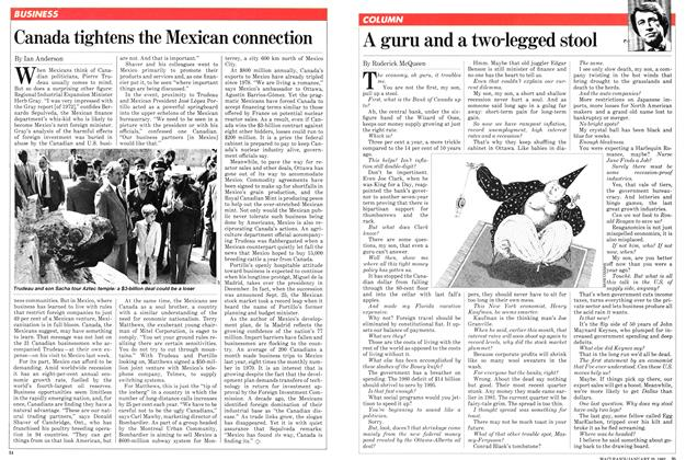Article Preview: A guru and a two-legged stool, January 1982 | Maclean's