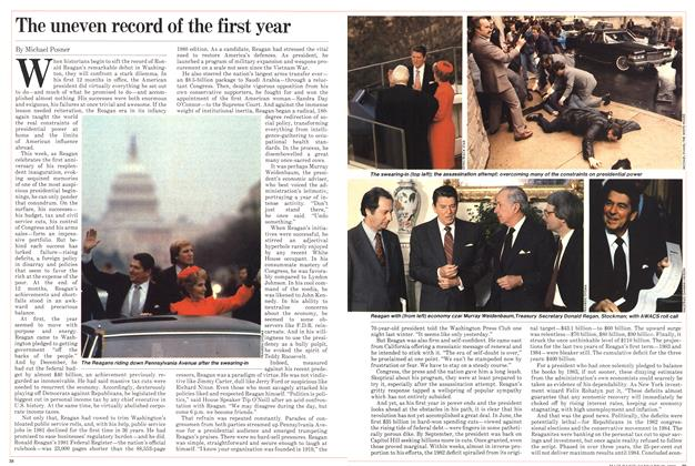 Article Preview: The uneven record of the first year, January 1982 | Maclean's
