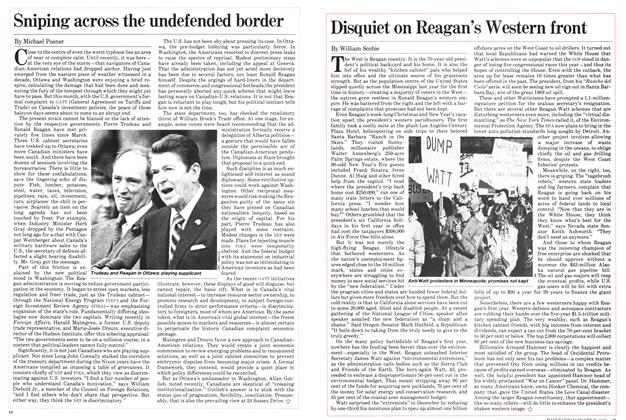 Article Preview: Sniping across the undefended border, January 1982 | Maclean's