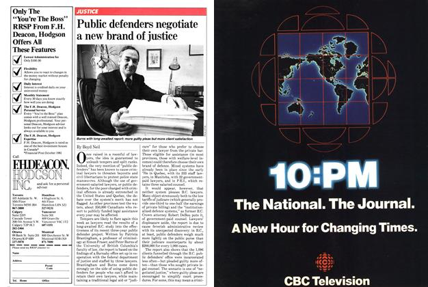 Article Preview: Public defenders negotiate a new brand of justice, January 1982 | Maclean's