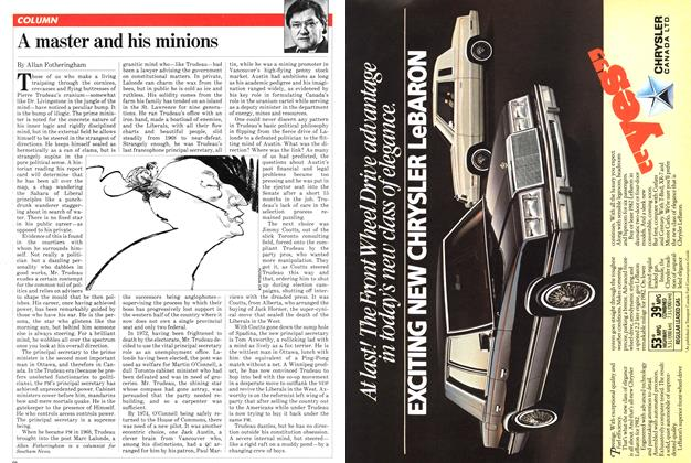 Article Preview: A master and his minions, January 1982 | Maclean's