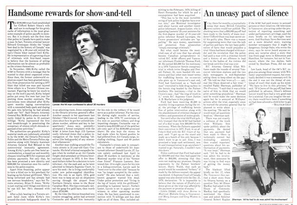Article Preview: An uneasy pact of silence, February 1982 | Maclean's
