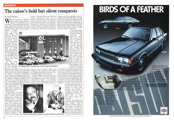 Article Preview: The caisse's bold but silent conquests, February 1982 | Maclean's