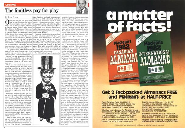 Article Preview: The limitless pay for play, February 1982 | Maclean's