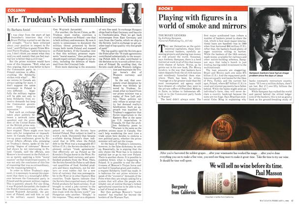 Article Preview: Mr. Trudeau's Polish ramblings, February 1982 | Maclean's