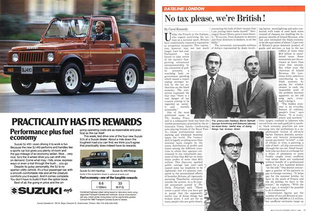 Article Preview: No tax please, we're British!, February 1982 | Maclean's