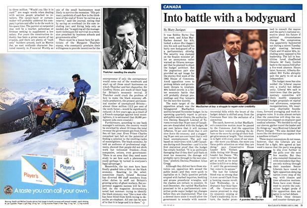 Article Preview: Into battle with a bodyguard, February 1982 | Maclean's