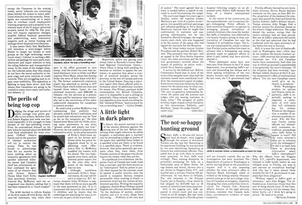 Article Preview: The perils of being top cop, February 1982 | Maclean's