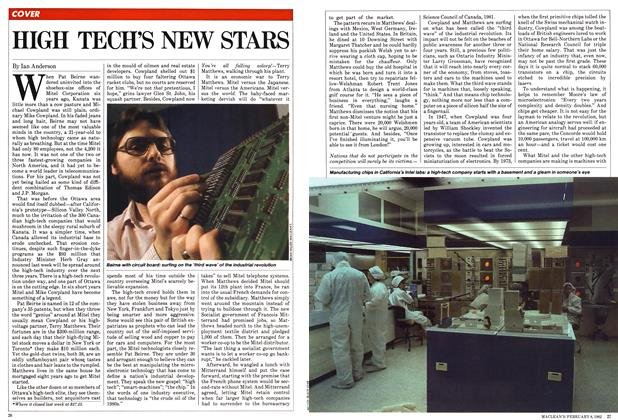 Article Preview: HIGH TECH'S NEW STARS, February 1982 | Maclean's