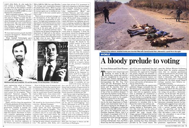 Article Preview: A bloody prelude to voting, February 1982 | Maclean's