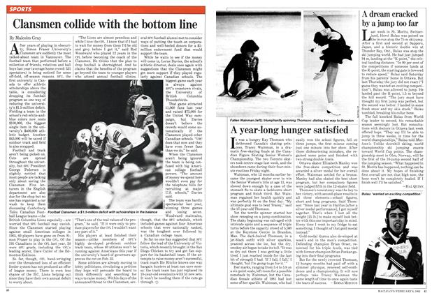 Article Preview: Clansmen collide with the bottom line, February 1982 | Maclean's