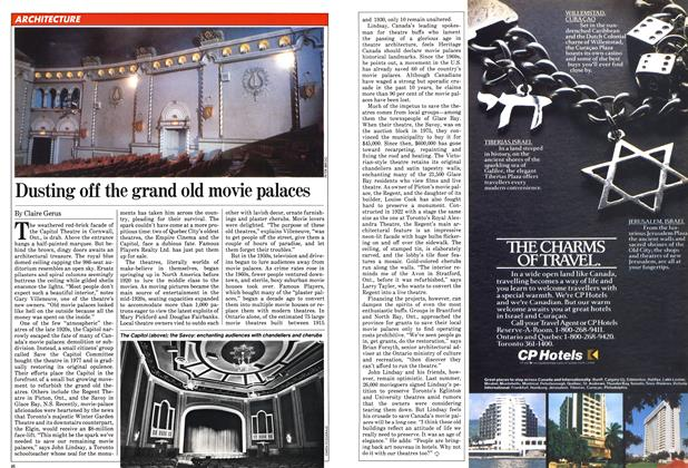 Article Preview: Dusting off the grand old movie palaces, February 1982 | Maclean's