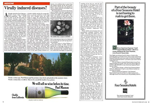 Article Preview: Virally induced diseases?, February 1982 | Maclean's