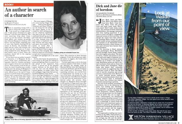 Article Preview: An author in search of a character, February 1982 | Maclean's