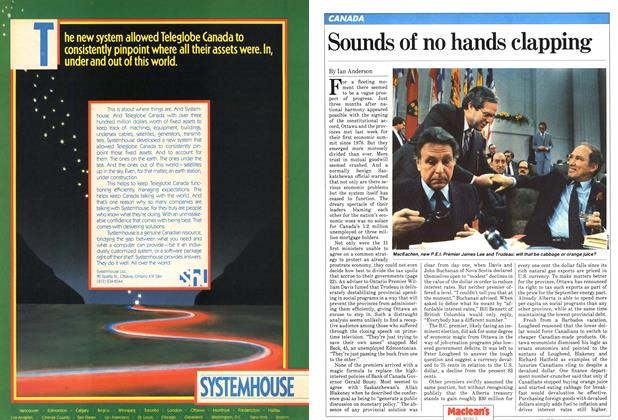 Article Preview: Sounds of no hands clapping, February 1982 | Maclean's