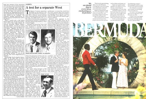 Article Preview: A test for a separate West, February 1982 | Maclean's