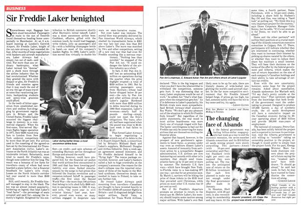 Article Preview: Sir Freddie Laker benighted, February 1982 | Maclean's