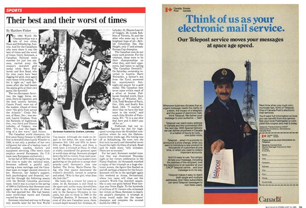 Article Preview: Their best and their worst of times, February 1982   Maclean's