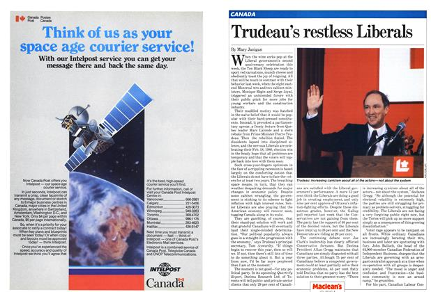 Article Preview: Trudeau's restless Liberals, February 1982 | Maclean's