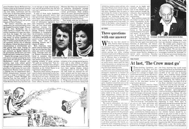 Article Preview: Three questions with one answer, February 1982 | Maclean's