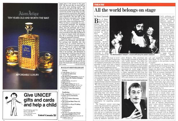 Article Preview: All the world belongs on stage, February 1982 | Maclean's