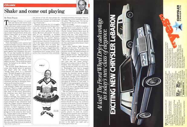 Article Preview: Shake and come out playing, February 1982 | Maclean's