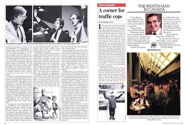 Article Preview: A corner for traffic cops, March 1982 | Maclean's