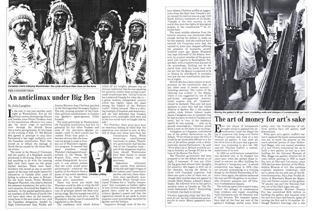 Article Preview: The art of money for art's sake, March 1982 | Maclean's